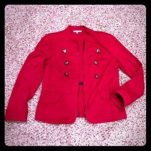 Military EUC blazer size XL deep red color